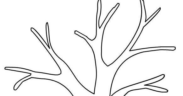 Stampa e colora albero spoglio for Foto di alberi da colorare