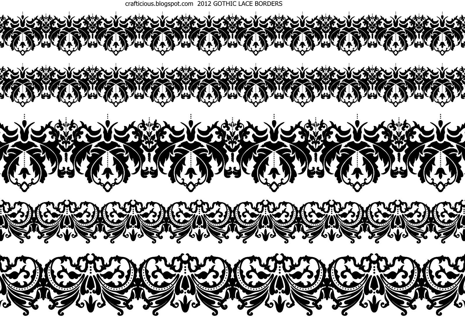 crafticious: Digital Lace Borders & Bats