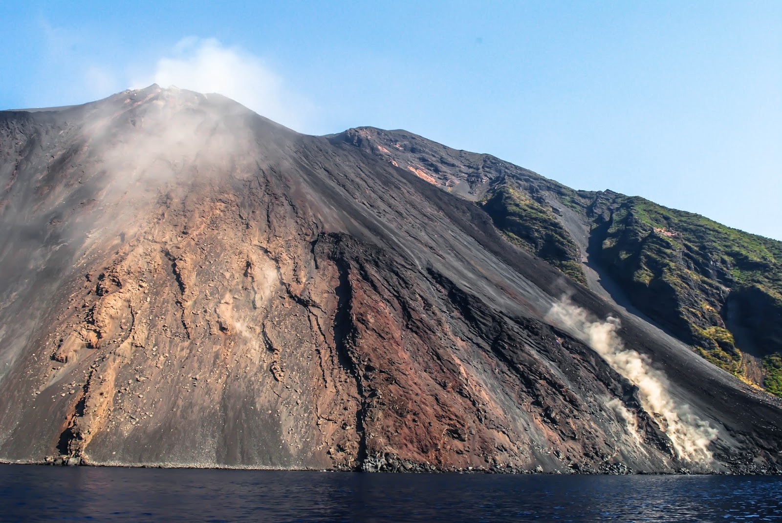 Stromboli Volcano in Sicily from the Sea