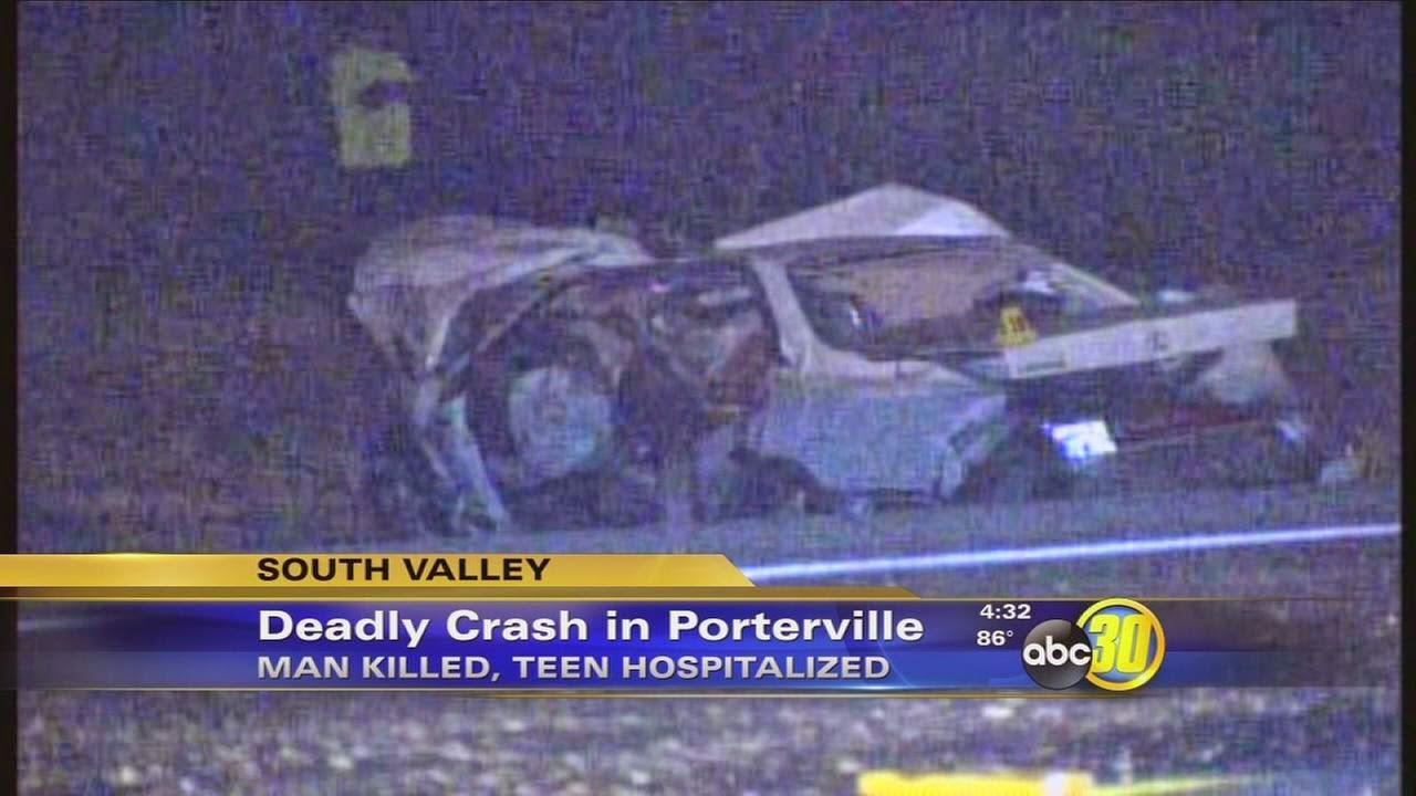 porterville highway 65 big rig car accident jose barron gregorio salas