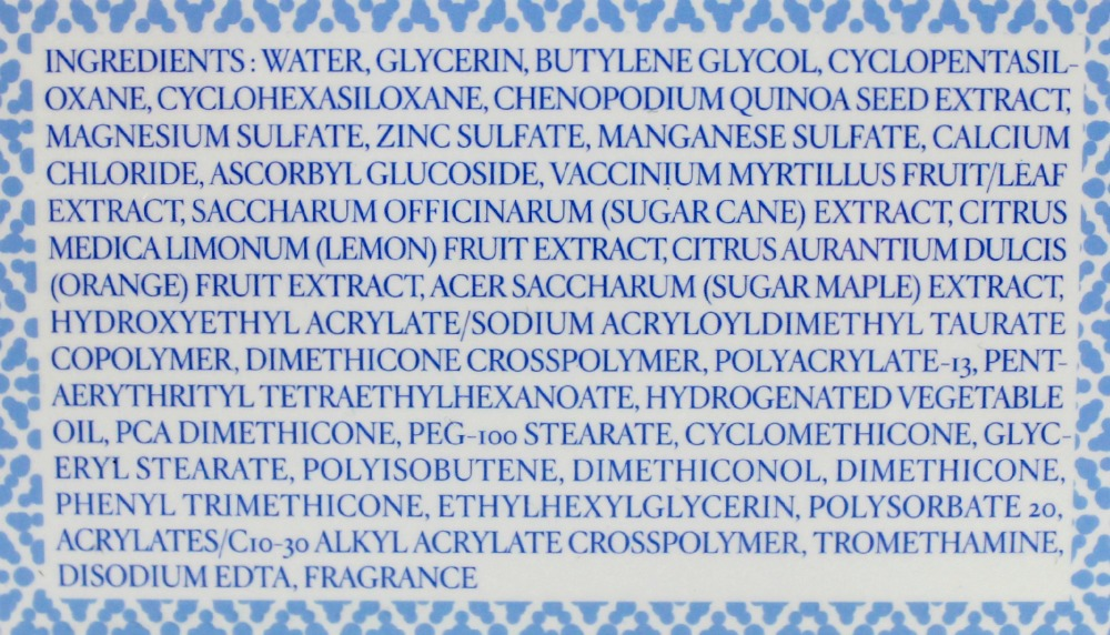 Laneige Water Bank Eye Gel ingredients box english