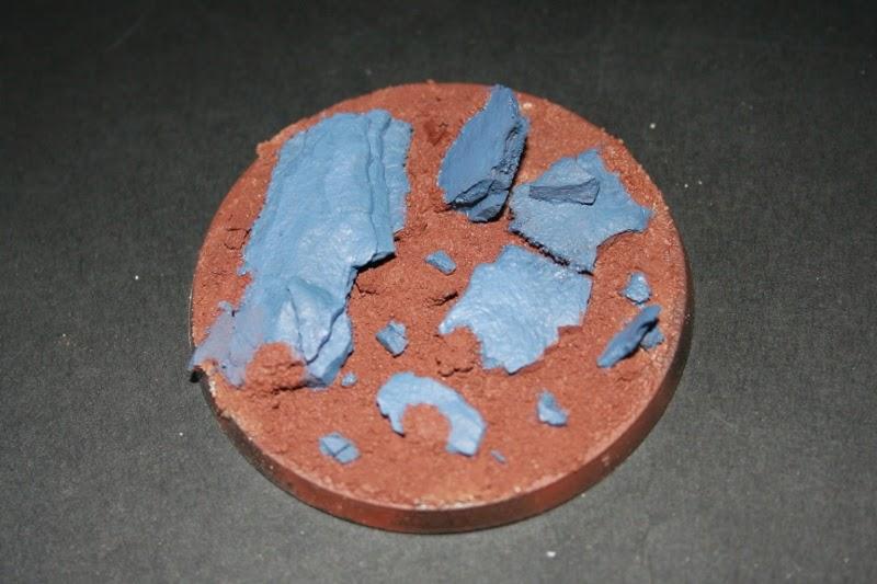 Pintado con Fenris Grey de las rocas de la peana
