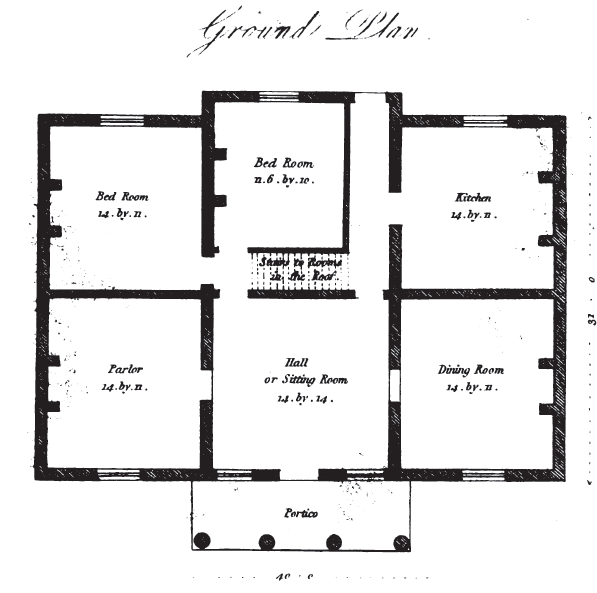 19th century historical tidbits 1835 house plans part 2 for 19th century floor plans