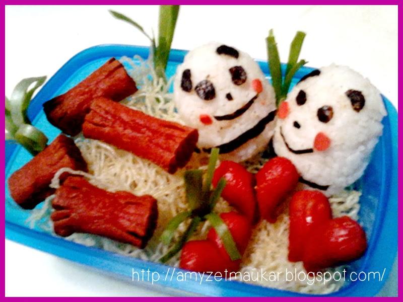 charaben panda, makanan unik, food art