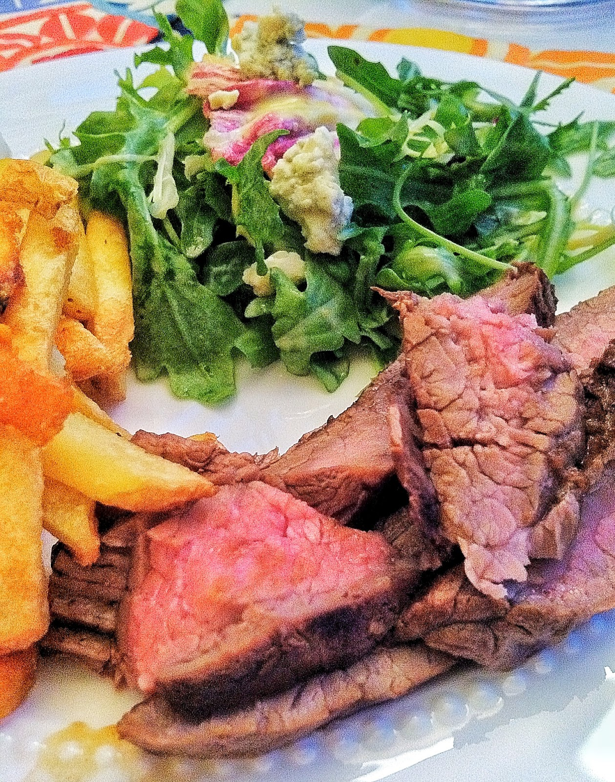 the rose record: marinated grilled flank steak