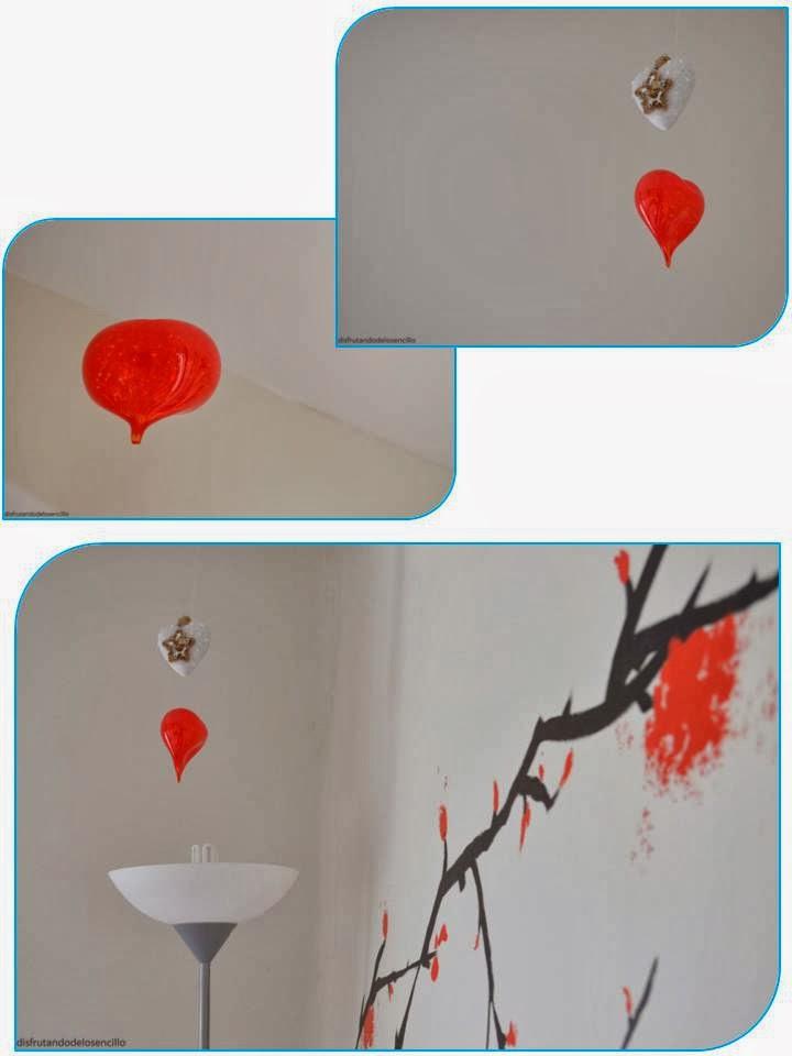 corazón vidrio artesano Krane