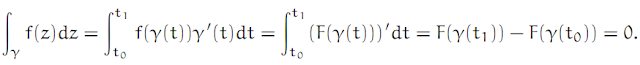 Complex Analysis: #4 Cauchy`s Theorem (simplest version) equation pic 1