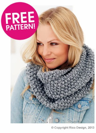 Snood Pattern Knit : Eight-by-Six: free knitting pattern for moss stitch snood