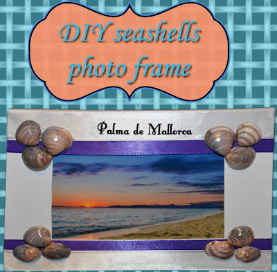 Seashells photo frame