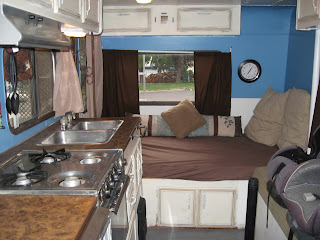 Aprons and apples rv remodel on a dime Painting interior travel trailer walls