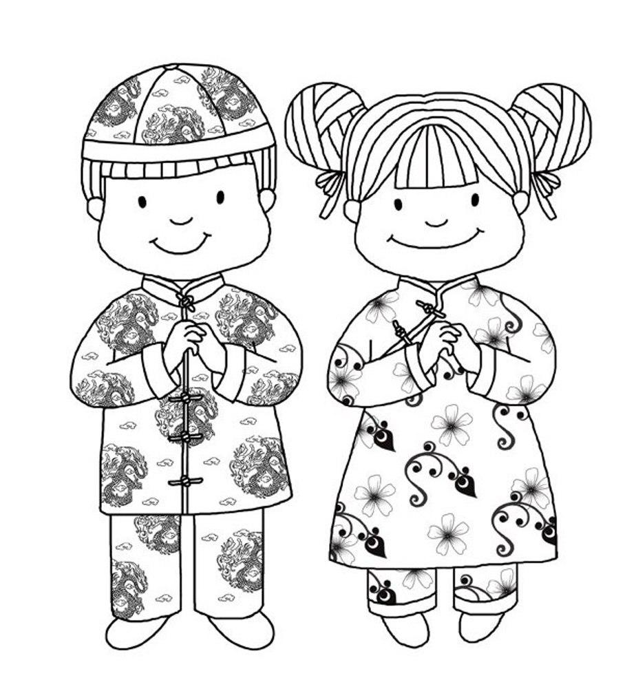 chinese coloring pages - recursos de educaci n infantil agosto 2012