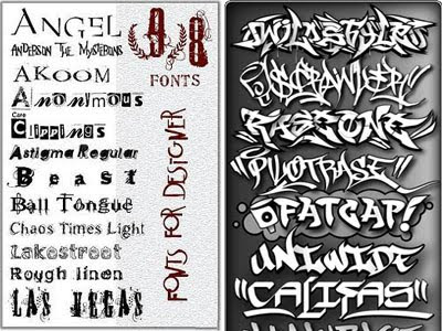 Airbrush-Fonts-and-Distorted-Fonts-Pack-Sample