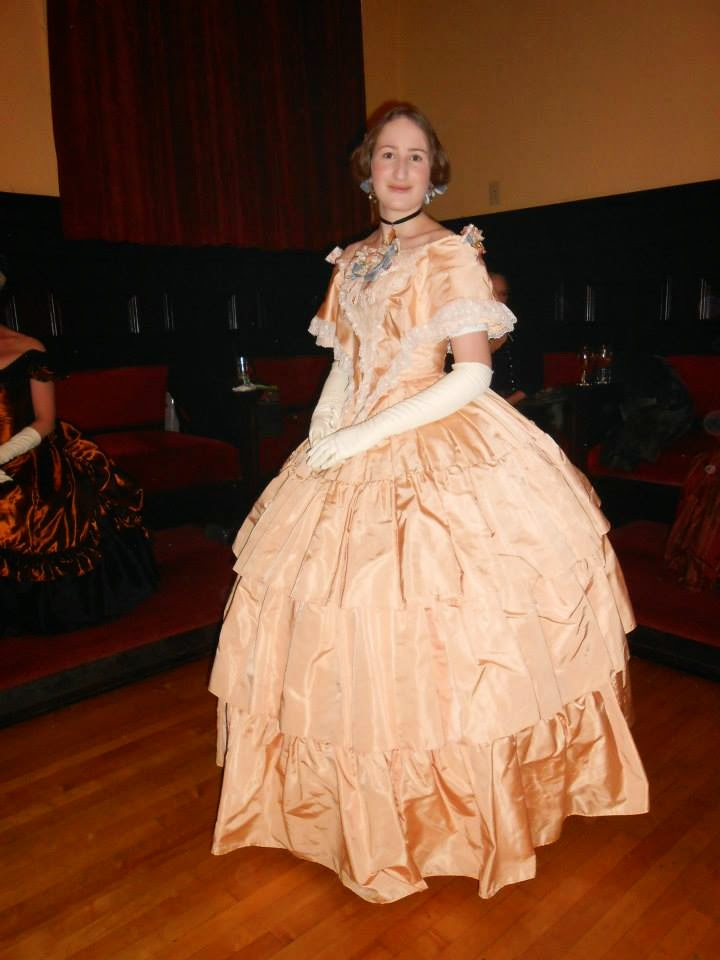 Tea Cups and Frocks: Peach 1850s Ball Gown