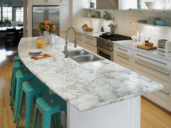 Laminate Bar Countertops : Make Them Wonder: Inexpensive Marble Alternatives