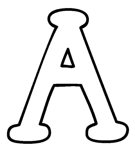 Capital Letters Coloring Pages