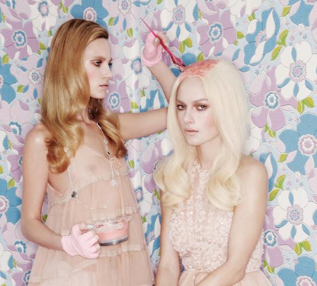 peindre ses cheveux en rose pastel