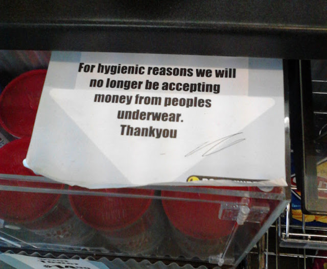 For Hygienic Reasons..., lol signs, funny signs