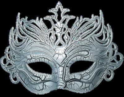 Máscara Carnaval PNG - Asiática simple silver