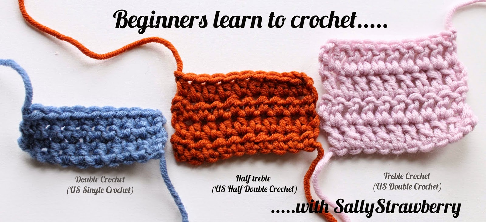 Crochet Stitches Uk Treble : SallyStrawberry: Beginners learn to crochet: Half-treble crochet