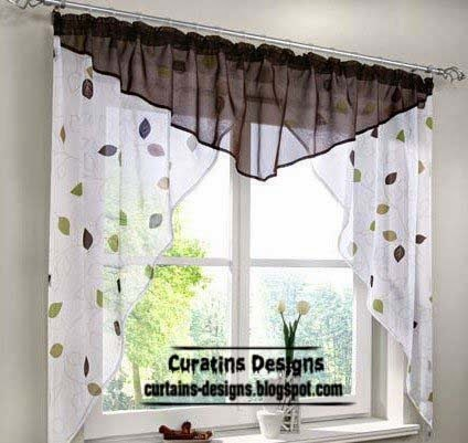 Unique curtain designs for kitchen windows kitchen curtains and drapery - Modern valances for kitchen ...