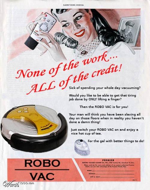 anúncios vintage - produtos modernos - Robo Vac