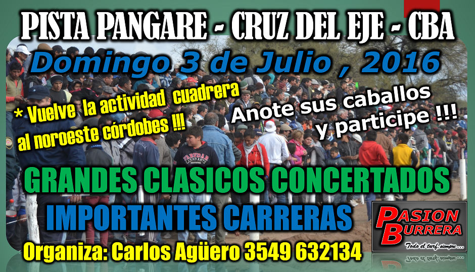 PANGARE - 3 DE JULIO