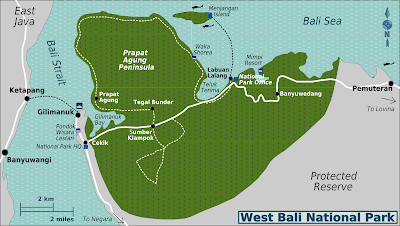 West Bali National Park Map