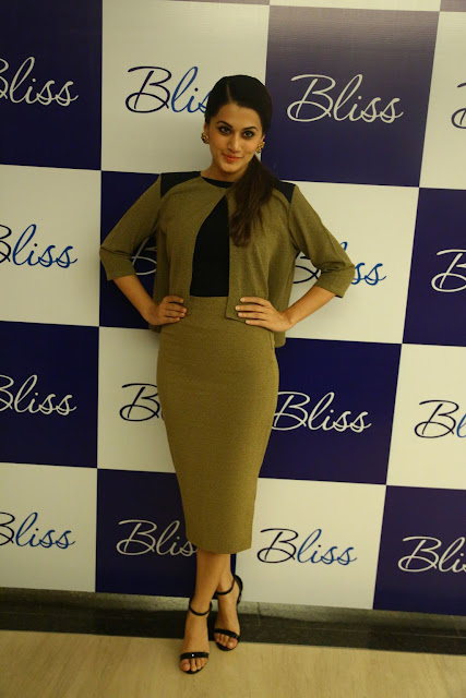Taapsee Pannu Looks Smoking Hot At Bliss Showroom Launch In Chennai