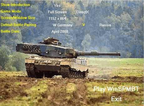 غلاف لعبة حرب الدبابات winSPMBT Main Battle Tank