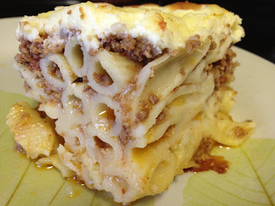 Pastitsio a Greek Lasagna