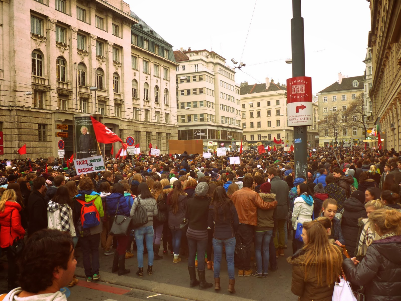 wien, vienna, dunaj protest