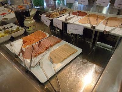 Cold Cuts at Assymetri Restaurant, Raddison Blu Hotel Yas Island Abu Dhabi
