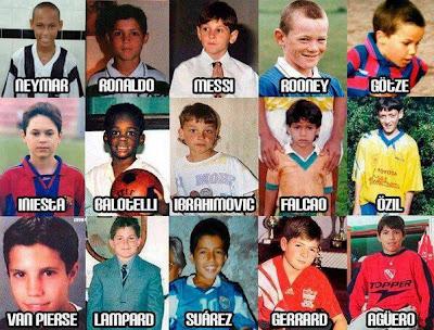 Fußballer als sie noch Kinder waren