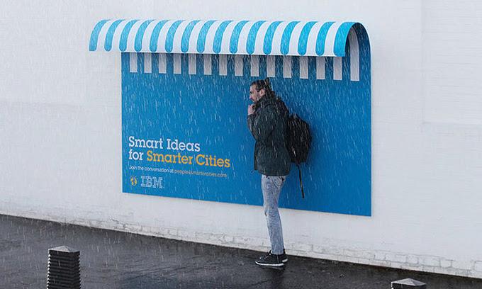IBM'in akıllı billboard kampanyası
