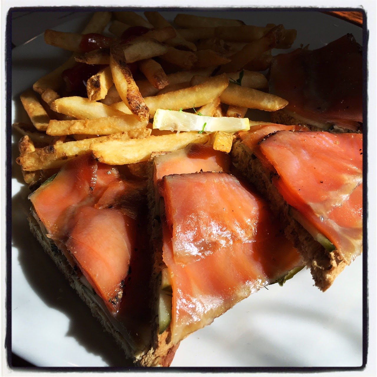 The log of spartina cold smoked salmon for Cold smoking fish