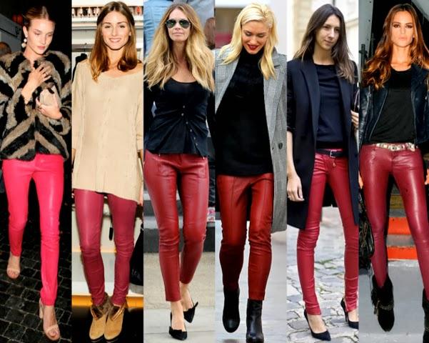 Celebrities-Burgundy-Leather-Pants-imprescindibles-Pantalones-de-Piel-Otoño-Invierno2013-2014-godustyle