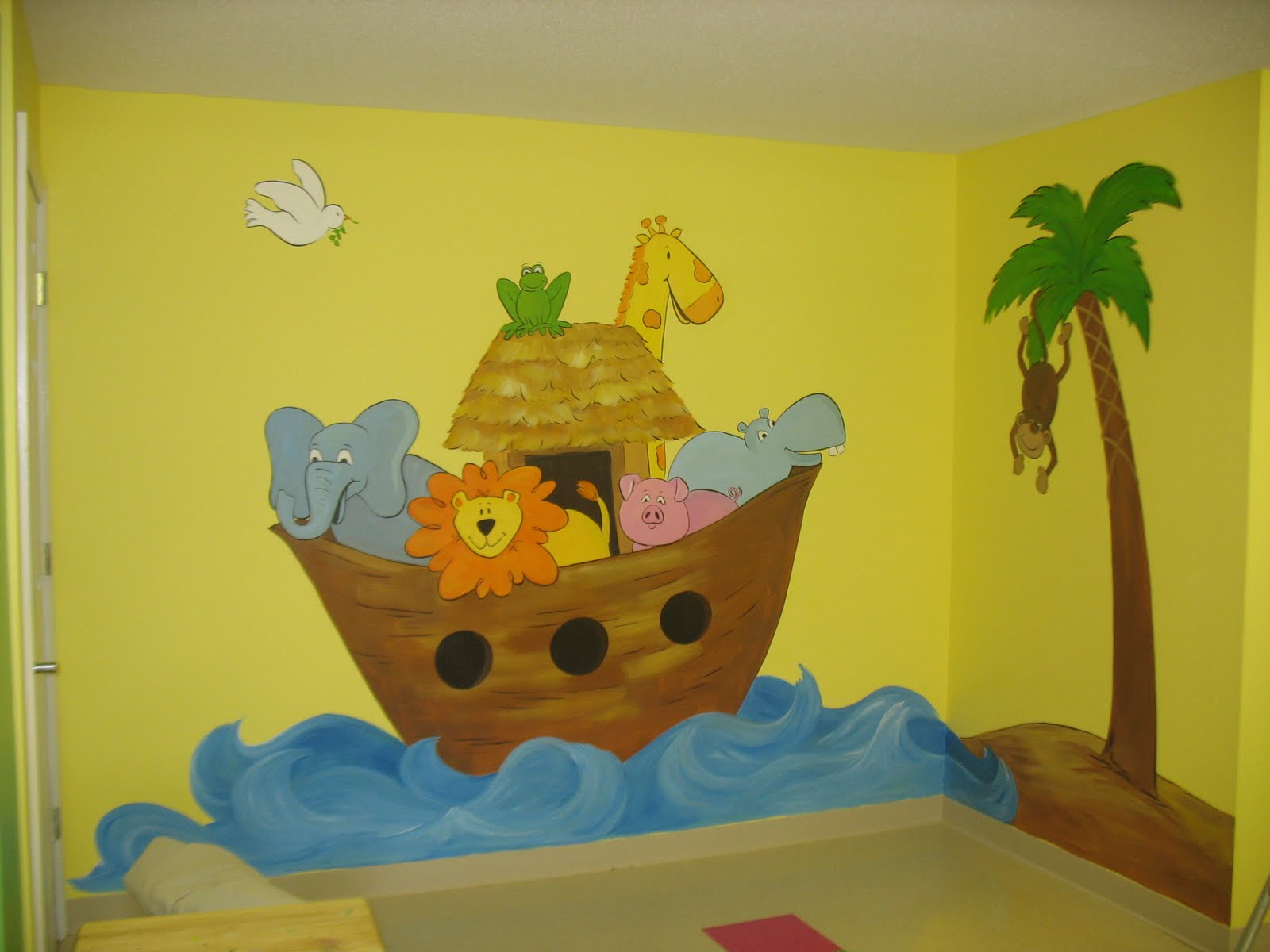 Natalie 39 s art for Church nursery mural