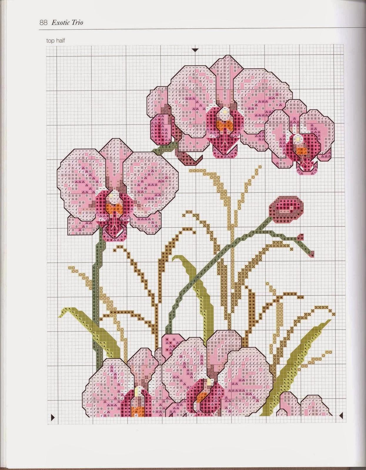 Скачать схему - Цветы, флора 91