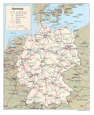 Landkarte Deutschland Politische