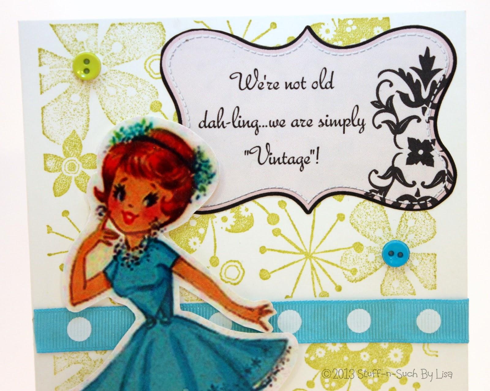StuffnSuch By Lisa Vintage Lady Birthday Card – Lady Birthday Cards
