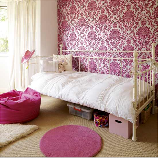Vintage style teen girls bedroom ideas room design ideas Wallpaper for teenage girl bedroom