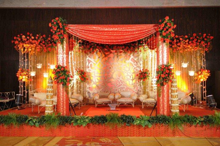 indian wedding stage decoration - photo #44