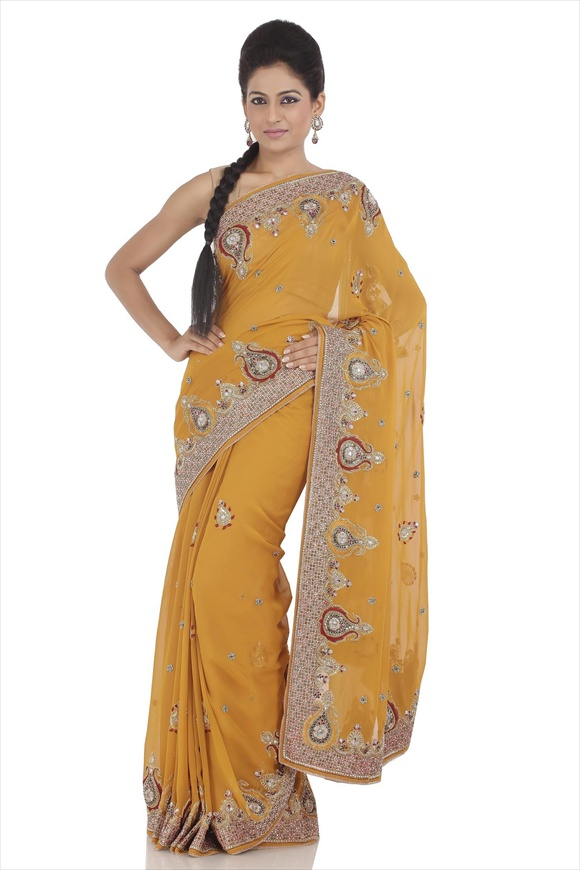 Old Gold Art sarees