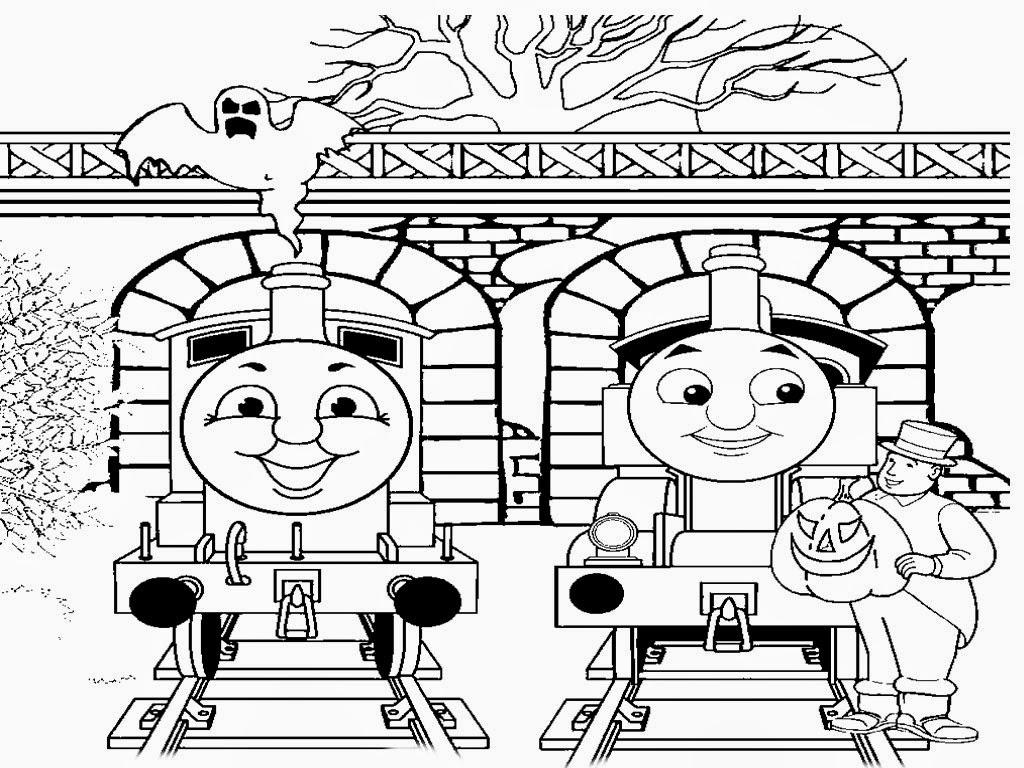 Mewarnai gambar Thomas untuk anak 6