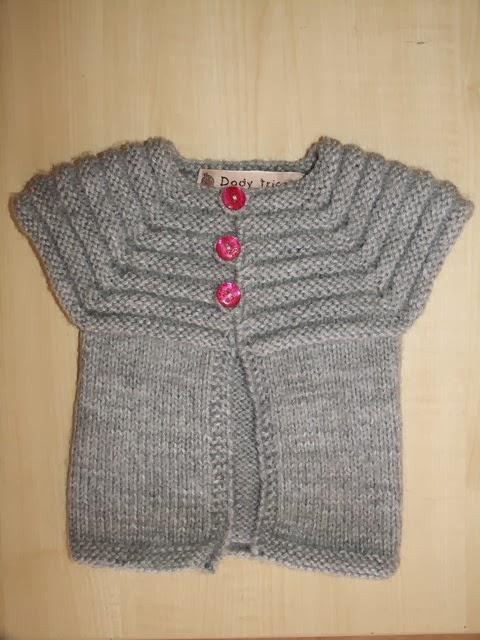 tricoter un gilet 3 mois