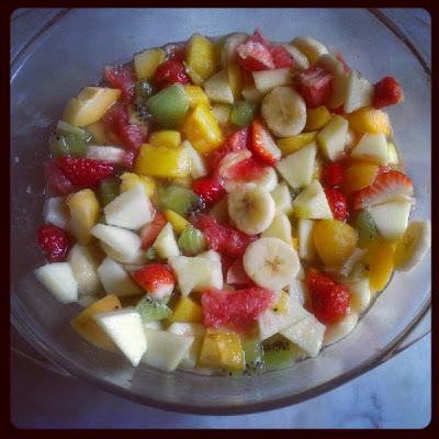 Le blog de lorraine salade de fruits frais et sirop l ger - Salade de fruits maison ...