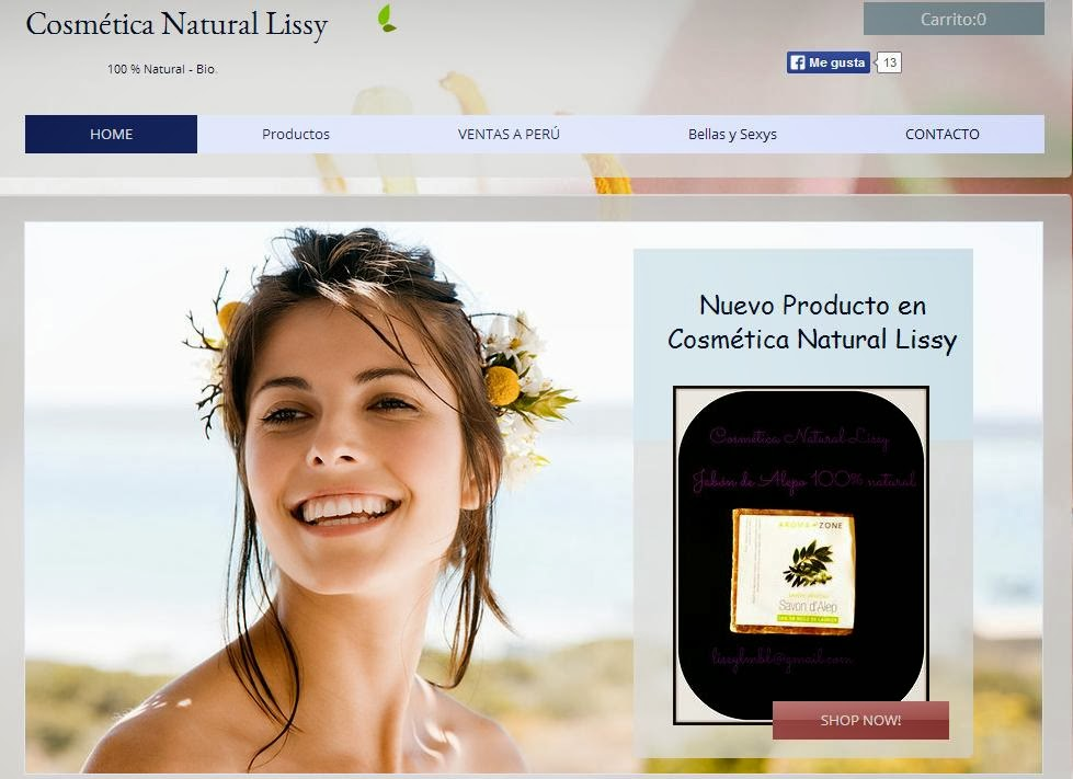 Página web Cosmética Natural Lissy