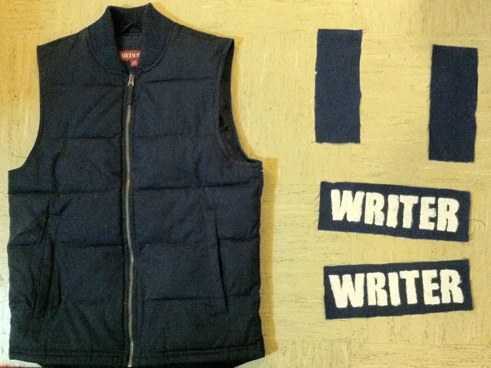chuck does art diy richard castle writer vest costume - Halloween Bullet Proof Vest