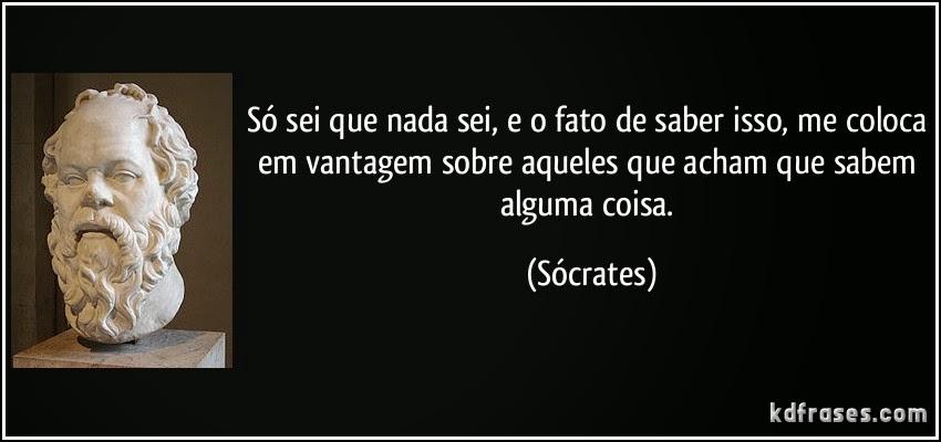 Sobre Sócrates, Sofocleto, conjugação do verbo Saber e a crise na Petrobras