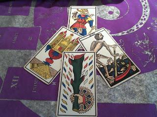Tirada de Tarot de Marsella 3 cartas
